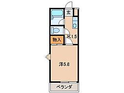ハイツアネシスII[2階]の間取り