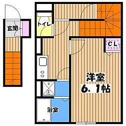 東京都調布市飛田給2丁目の賃貸アパートの間取り