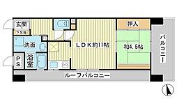 ライオンズマンション姫路西飾磨[701号室]の間取り