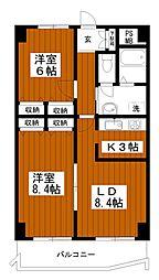 オリエント・パビヨン[9階]の間取り