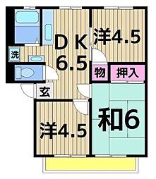 櫻シティーB[202号室]の間取り