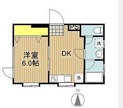 神奈川県横浜市南区永田東3丁目の賃貸マンションの間取り