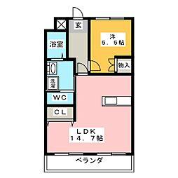 第2若葉ビル[1階]の間取り