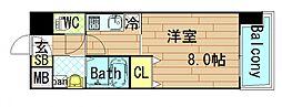 OAK弥栄[4階]の間取り