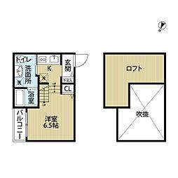 福岡県福岡市南区井尻1丁目の賃貸アパートの間取り