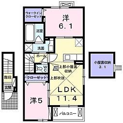 アバンツァート[2階]の間取り