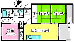 コーポウィステリア24[3階]の間取り
