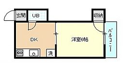 広島県広島市中区河原町の賃貸マンションの間取り