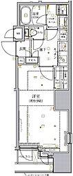 都営新宿線 小川町駅 徒歩2分の賃貸マンション 7階1Kの間取り