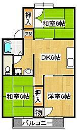 ネオハイツ伊藤[2階]の間取り