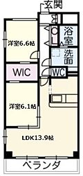 愛知県名古屋市千種区鹿子町1丁目の賃貸マンションの間取り