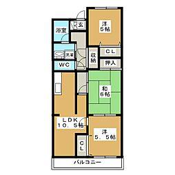 CITY手倉田[2階]の間取り