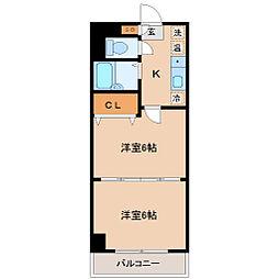 ロイヤルアネックス連坊[5階]の間取り