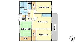 サニーガーデン広畑[302号室]の間取り