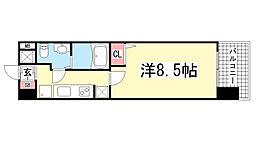 アドバンス三宮Ⅴソレイユ[6階]の間取り