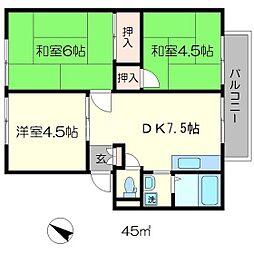 ハイツマキーバ[2階]の間取り