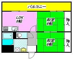 ラポール・くき 603号室[6階]の間取り