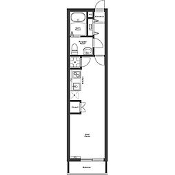 JR山手線 恵比寿駅 徒歩6分の賃貸アパート 2階ワンルームの間取り