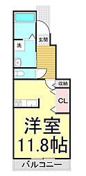 クレール弐番館[1階]の間取り