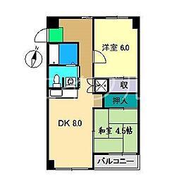 カサグレイズ[2階]の間取り