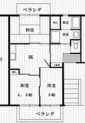 大塚ハイツA棟[305号室]の間取り