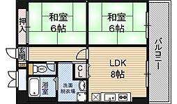 阪神ハイグレードマンション3番館[5階]の間取り