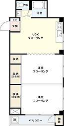 さくらぎマンション[2E号室]の間取り