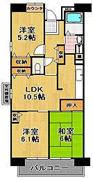 シティコート千島3丁目[4階]の間取り