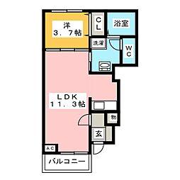 フレイムA・B棟[1階]の間取り