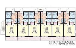 ルチェンテS[1階]の間取り