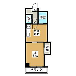 ル・サフィ−ル八条[2階]の間取り