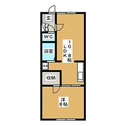 メゾン秀永B[2階]の間取り