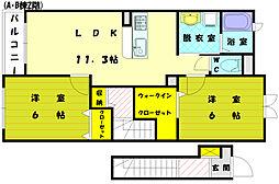 カーサアルマーレ2[2階]の間取り