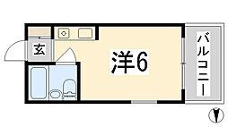 兵庫県姫路市南畝町2丁目の賃貸マンションの間取り
