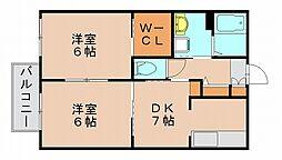 ラヴェルテA[1階]の間取り