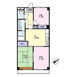 第二村田マンション[4階]の間取り