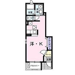 愛知県岡崎市針崎町字東カンジの賃貸アパートの間取り