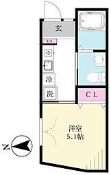 仮)西蒲田5丁目邸 1階1Kの間取り