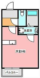 カーサガロファーノ[1階]の間取り