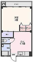 白菊ハウス[3階]の間取り