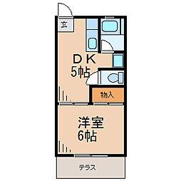 コーポヒルサイド[1階]の間取り
