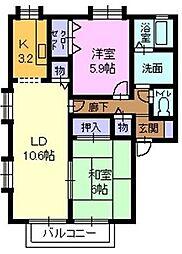 フォブールミューレ[1階]の間取り