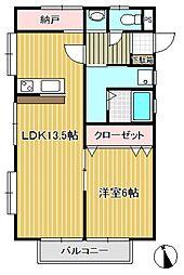 スプリングヒル弐番館[2階]の間取り