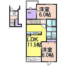 ラフレシール A[2階]の間取り