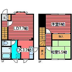 [テラスハウス] 北海道札幌市豊平区西岡一条3丁目 の賃貸【/】の間取り