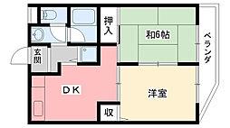 ボンヌ・メゾン[2階]の間取り