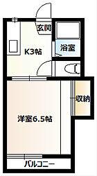桜コーポA[202号室]の間取り