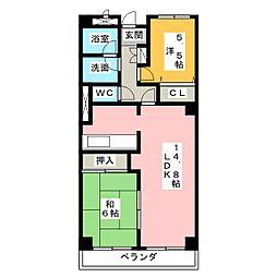 ガーデンハウス御器所[2階]の間取り