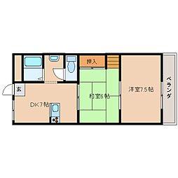 奈良県天理市守目堂町の賃貸マンションの間取り