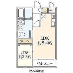 新築T&T Morino[106号室]の間取り